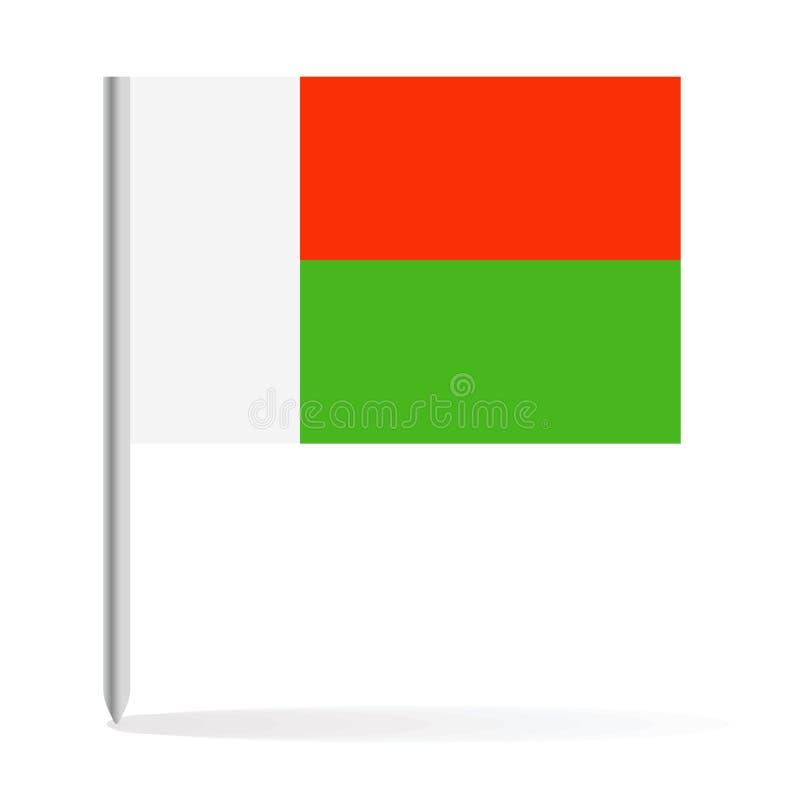 马达加斯加旗子Pin传染媒介象 皇族释放例证