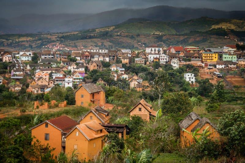 马达加斯加镇风景 免版税库存图片