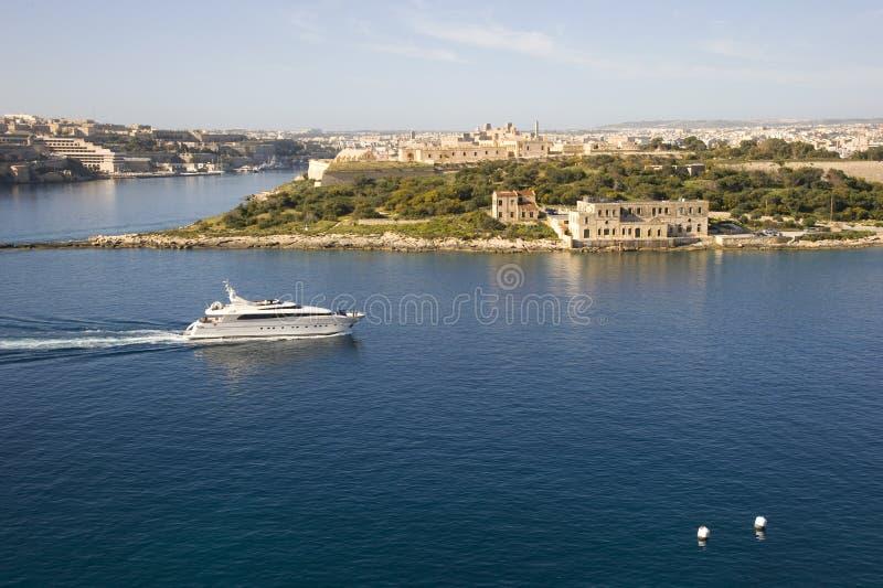 Manoel海岛, Marsamxett港口 免版税图库摄影