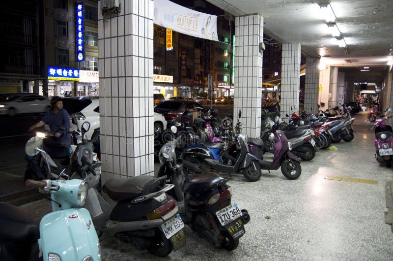 马达自行车街道  库存图片