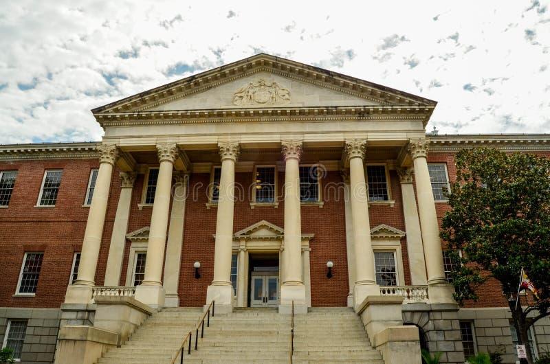 马里兰州长` s豪宅和地面 免版税库存照片