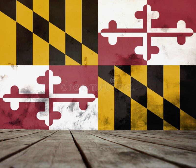 马里兰旗子纹理  图库摄影