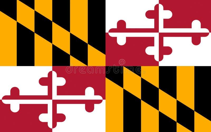 马里兰,美国旗子  免版税图库摄影