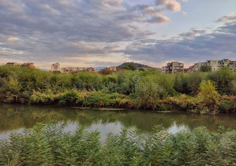 马里察河,保加利亚普罗夫迪夫 免版税库存照片