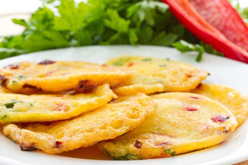 马铃薯薄烤饼 免版税图库摄影