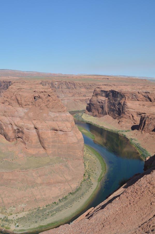 马鞋子弯 亚利桑那科罗拉多马掌河美国 地质 免版税图库摄影