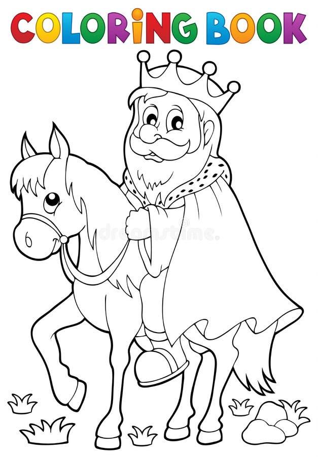 马题材的1彩图国王 库存例证