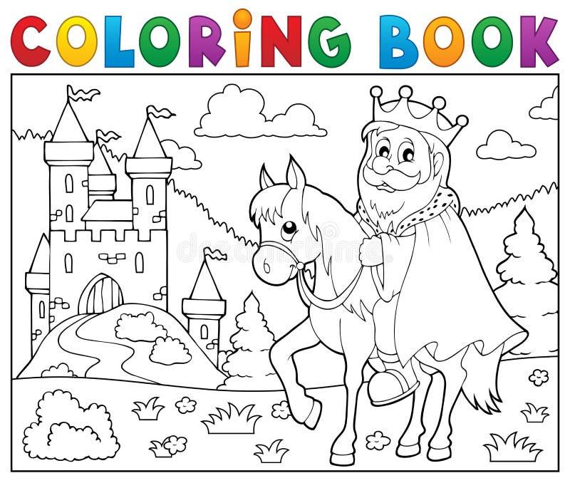 马题材的2彩图国王 向量例证