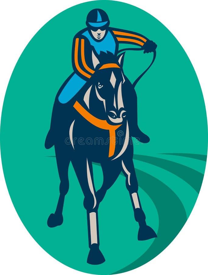 马骑师跑道 库存例证