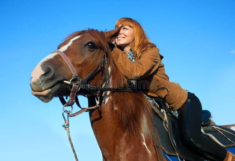 马骑术妇女 免版税图库摄影