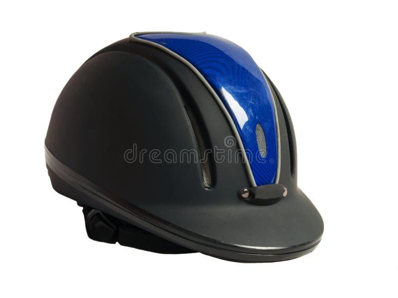 马骑术被隔绝的黑色盔甲 免版税图库摄影