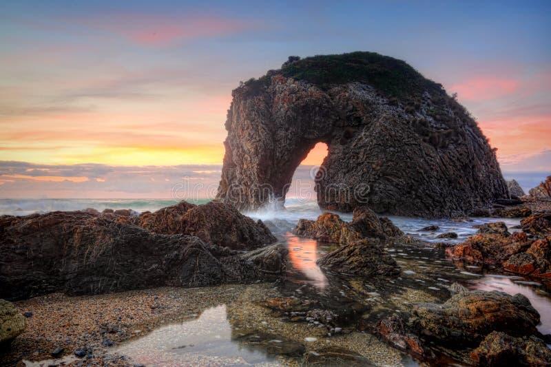 马头岩石澳大利亚日出 库存图片