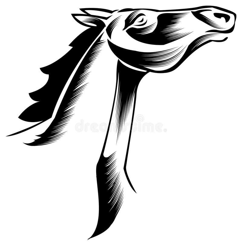 马Head.Horse农场,尼斯干净的马稳定 向量例证