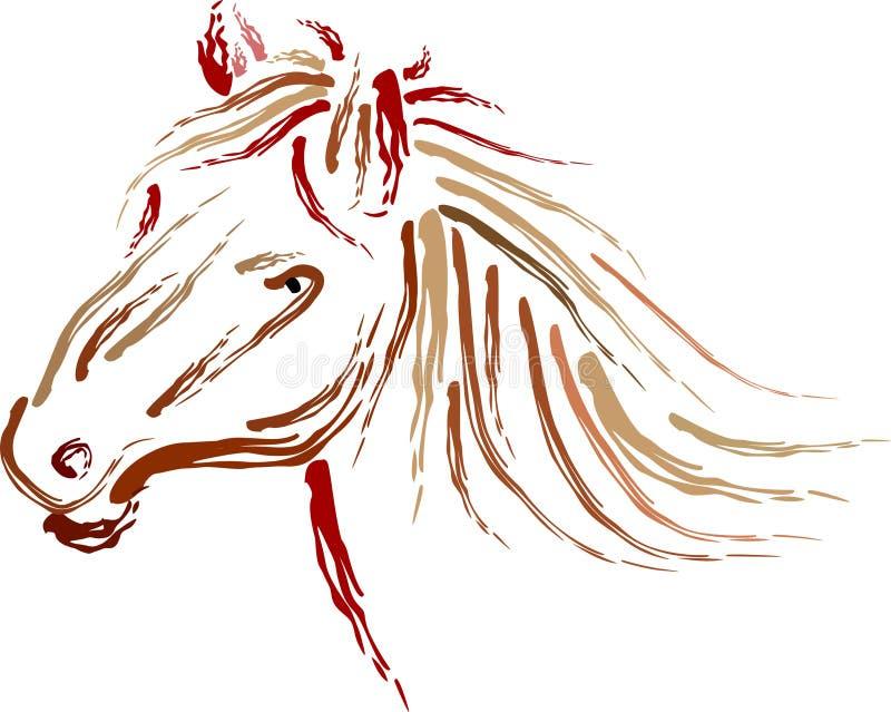 马Head.Horse农场,尼斯干净的马稳定 皇族释放例证
