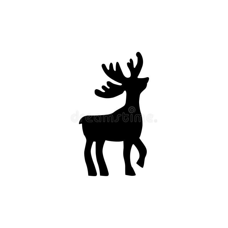 驯鹿剪影 免版税图库摄影