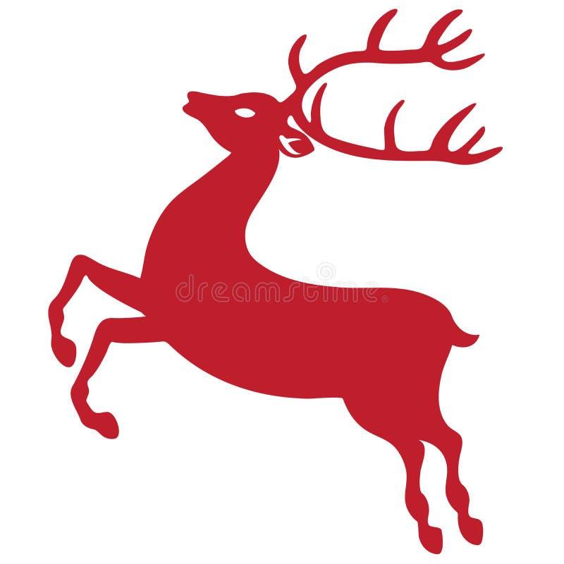 驯鹿剪影 库存图片