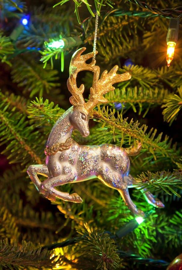 驯鹿圣诞节装饰品 免版税图库摄影