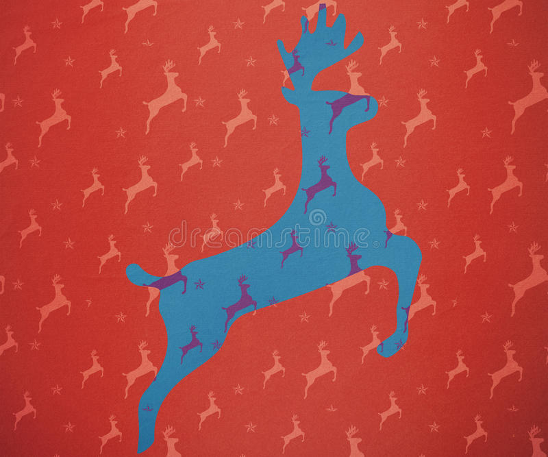 驯鹿赛跑的综合图象 皇族释放例证