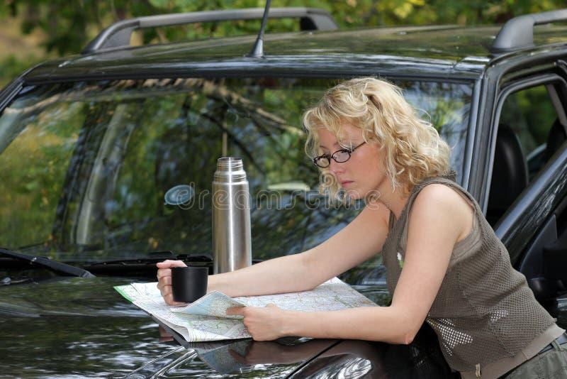 驱动器妇女 免版税库存照片