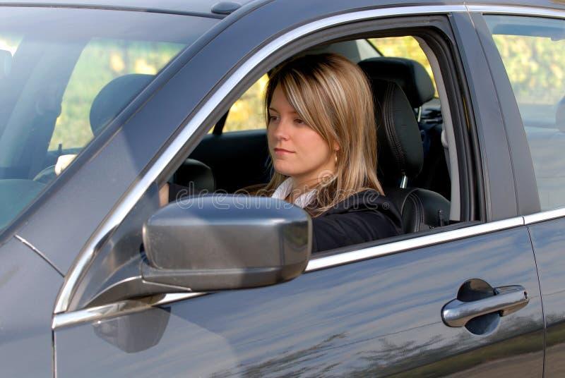 驱动器妇女 免版税图库摄影