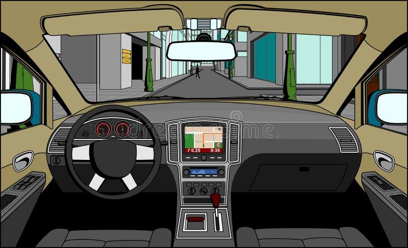驱动器视图 向量例证