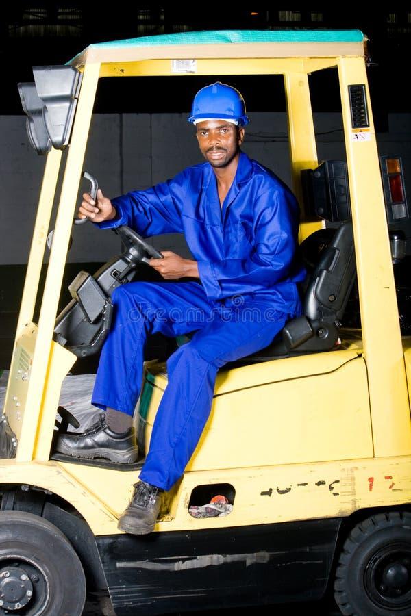 驱动器铲车 库存图片