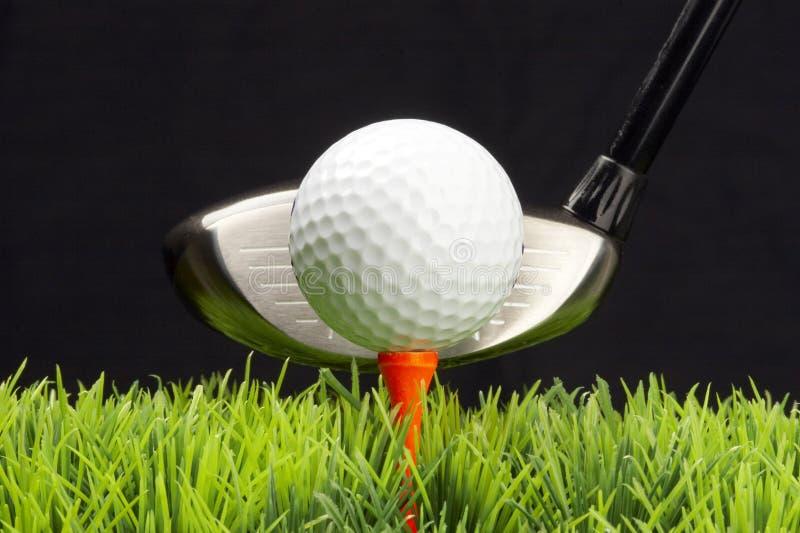 驱动器高尔夫球 免版税库存图片