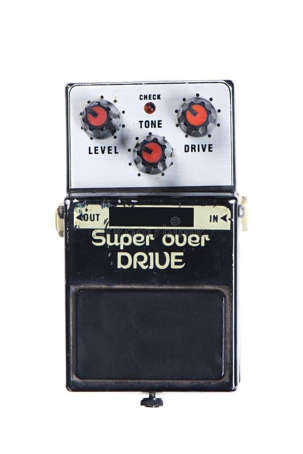 驱动在超级的作用吉他 库存照片