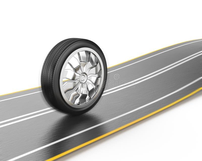 驱动路轮子 向量例证