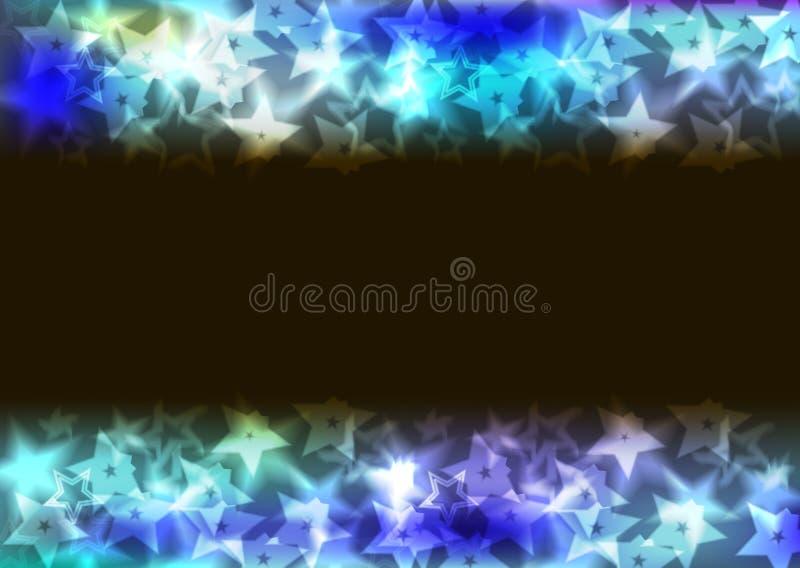 驱散的明亮的背景星 库存图片