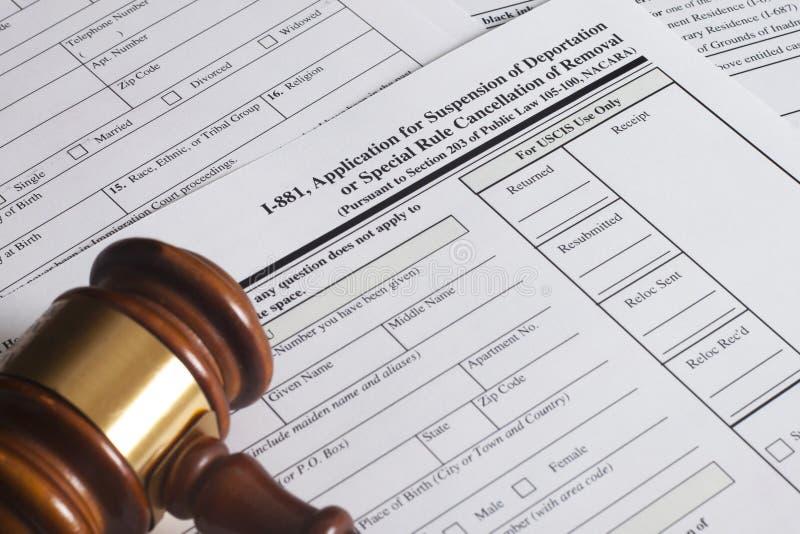 驱逐出境应用停止  免版税库存照片