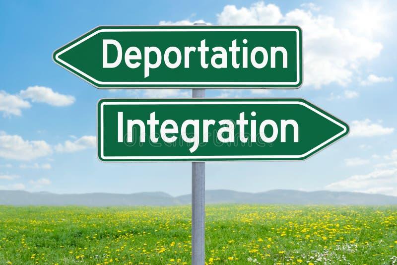 驱逐出境或综合化 库存图片