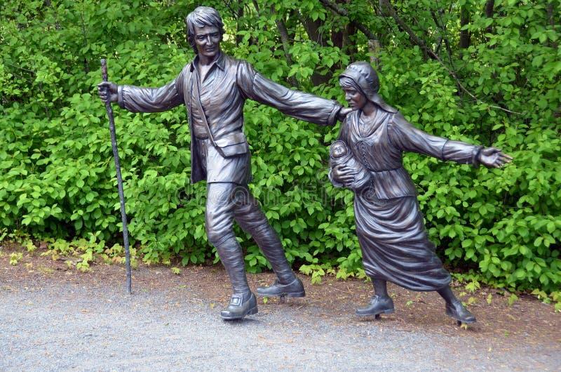 驱逐出境雕塑 库存照片
