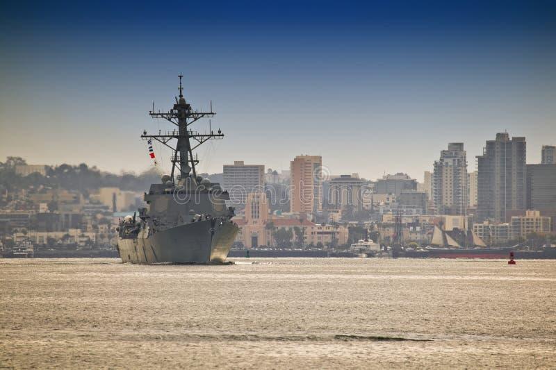 驱逐舰海军我们 免版税库存图片
