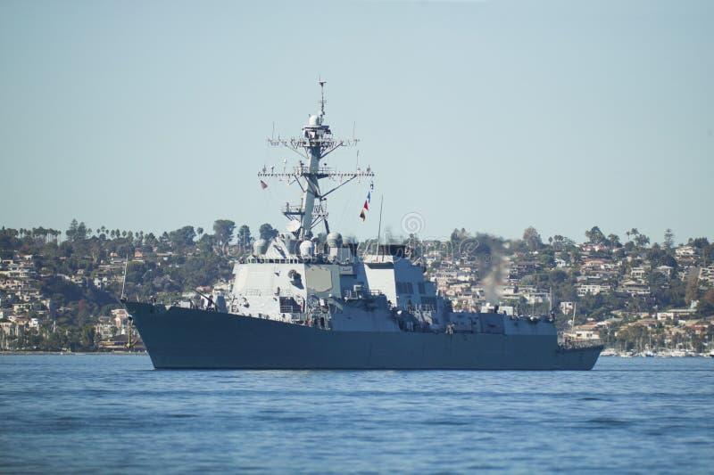 驱逐舰海军我们 免版税库存照片