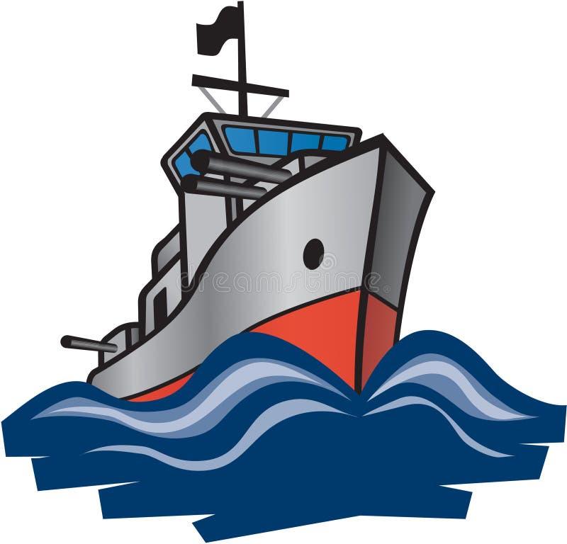 驱逐舰海军 向量例证