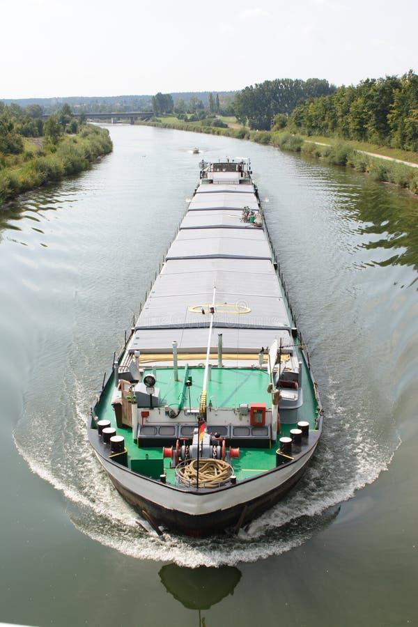 驳船运河 免版税图库摄影