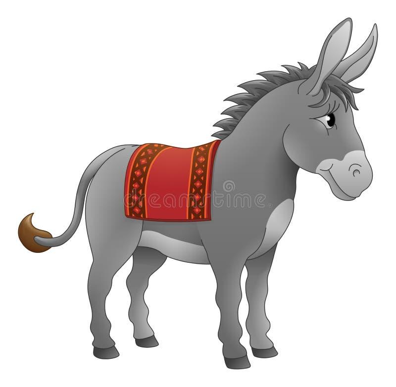 驴动物卡通人物 皇族释放例证