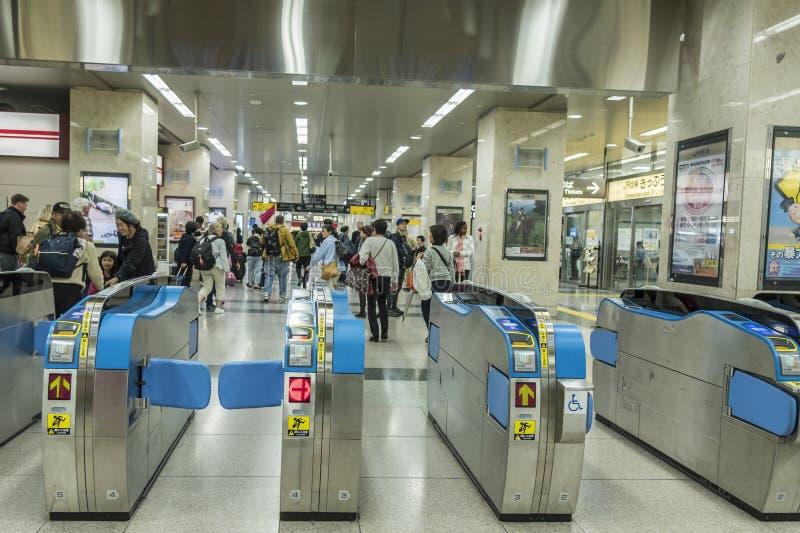 驻地出口票加工Shinkansen小田原日本 库存照片