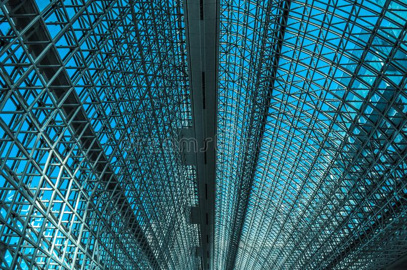 驻地心房的被成拱形的屋顶 免版税图库摄影