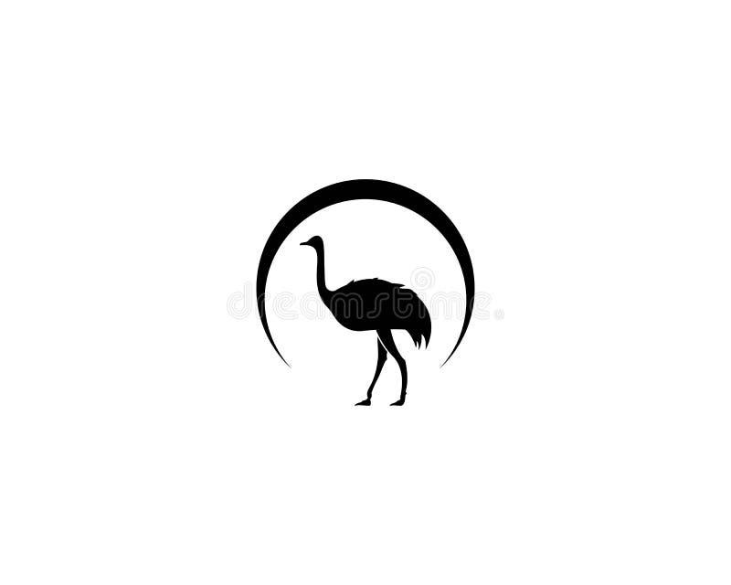 驼鸟商标传染媒介 向量例证