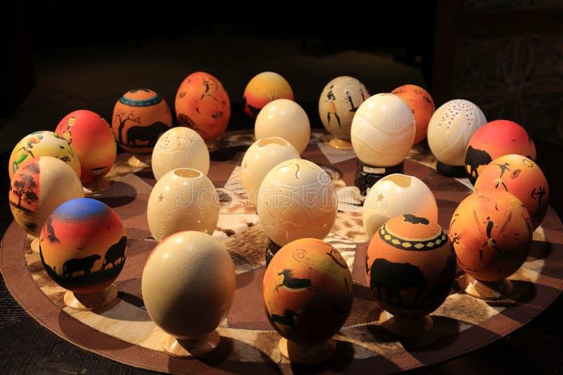 驼鸟鸡蛋 免版税库存照片