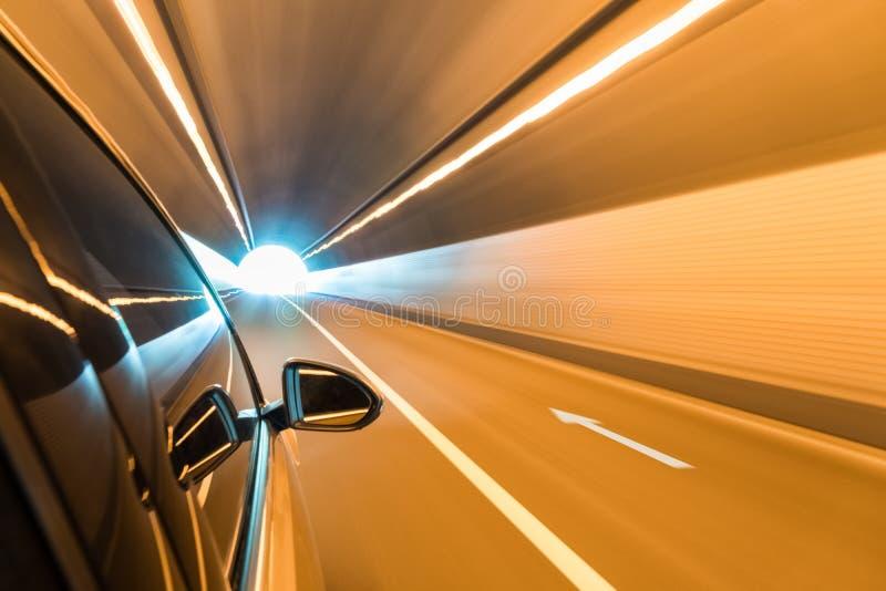 驾车快速的出口隧道 库存照片
