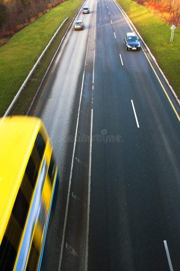 驾车快速途径 库存照片
