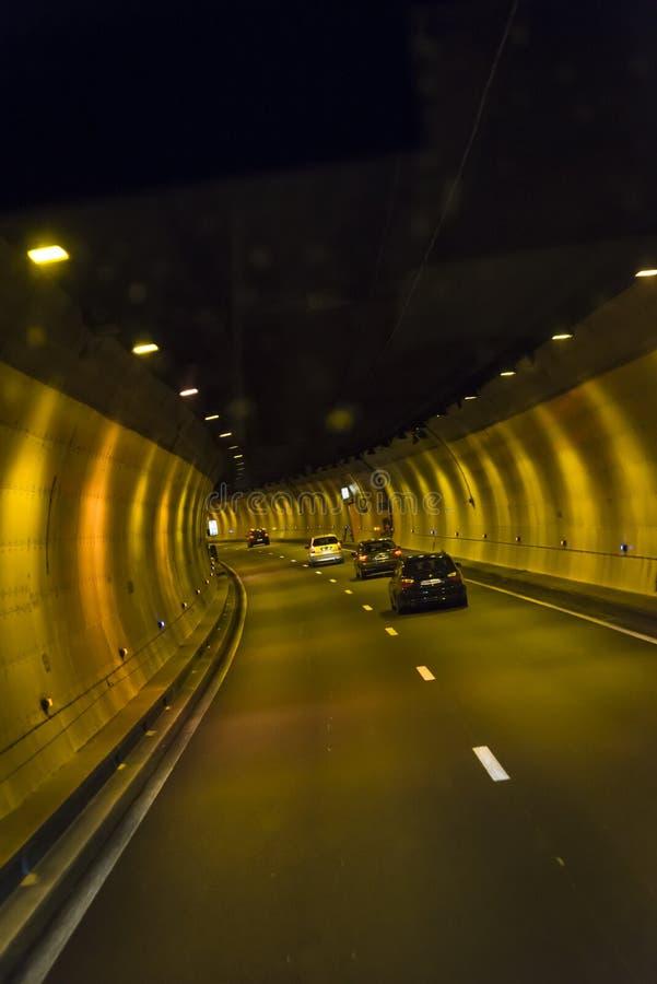 驾车通过隧道,法国 图库摄影