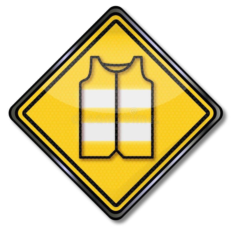 驾驶人和汽车司机的安全背心 皇族释放例证