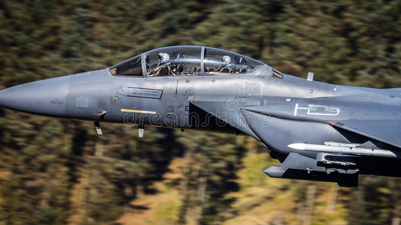 驾驶办公室F15美国空军 图库摄影