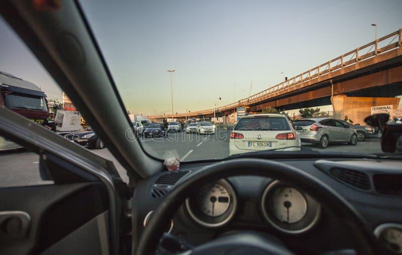 驾驶在交通#2 免版税库存图片