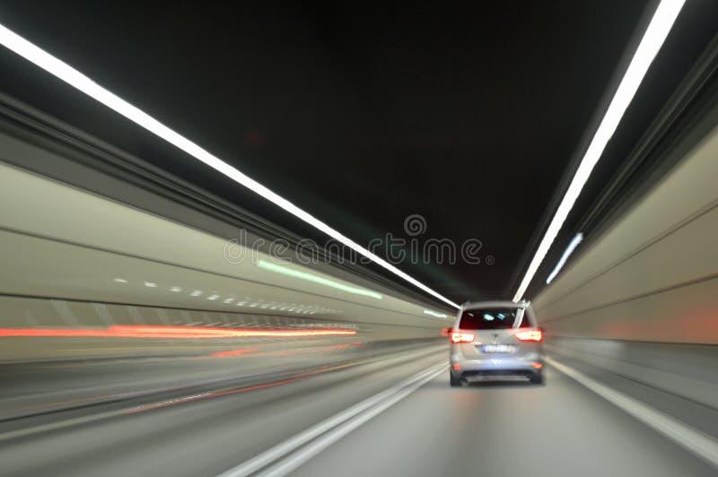 驾驶在Drogden隧道厄勒海峡横穿 库存图片