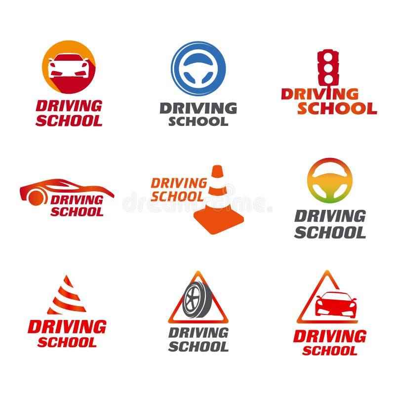驾驶学校商标 库存例证